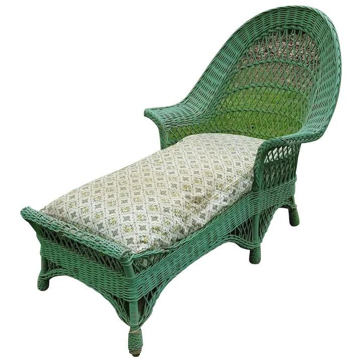 bar harbor wicker chaise lounge circa 1920 s