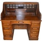 Victorian Oak Raised Panel Roll Top Maine Antique Furniture Ruby Lane