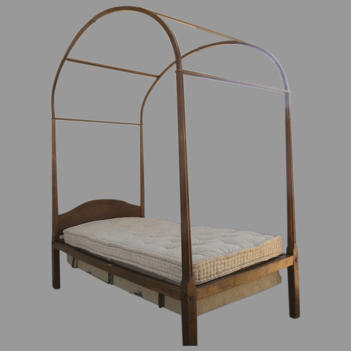 delightful country cherry four poster twin bed with canopy early 19th century