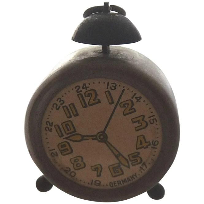 Vintage German Miniature Alarm Clock