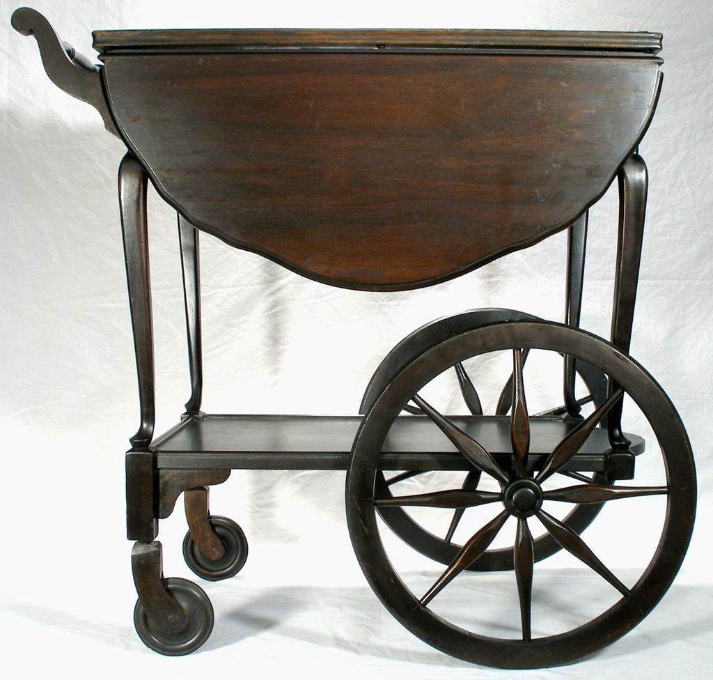 Wagon Wheel Coffee Table Vintage