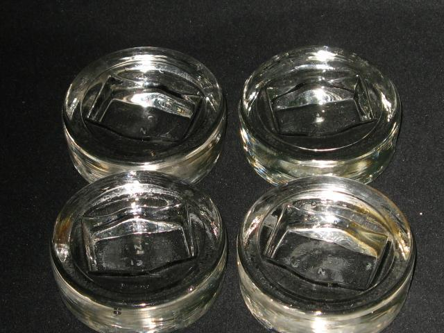 4 Rare Round Crystal Gliders Patented Jan 15 1924 W