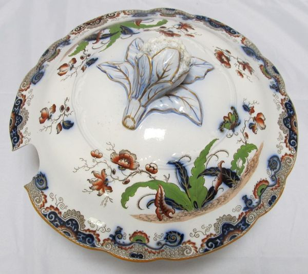 Antique Soup Tureen Lid English from thesteffencollection ...