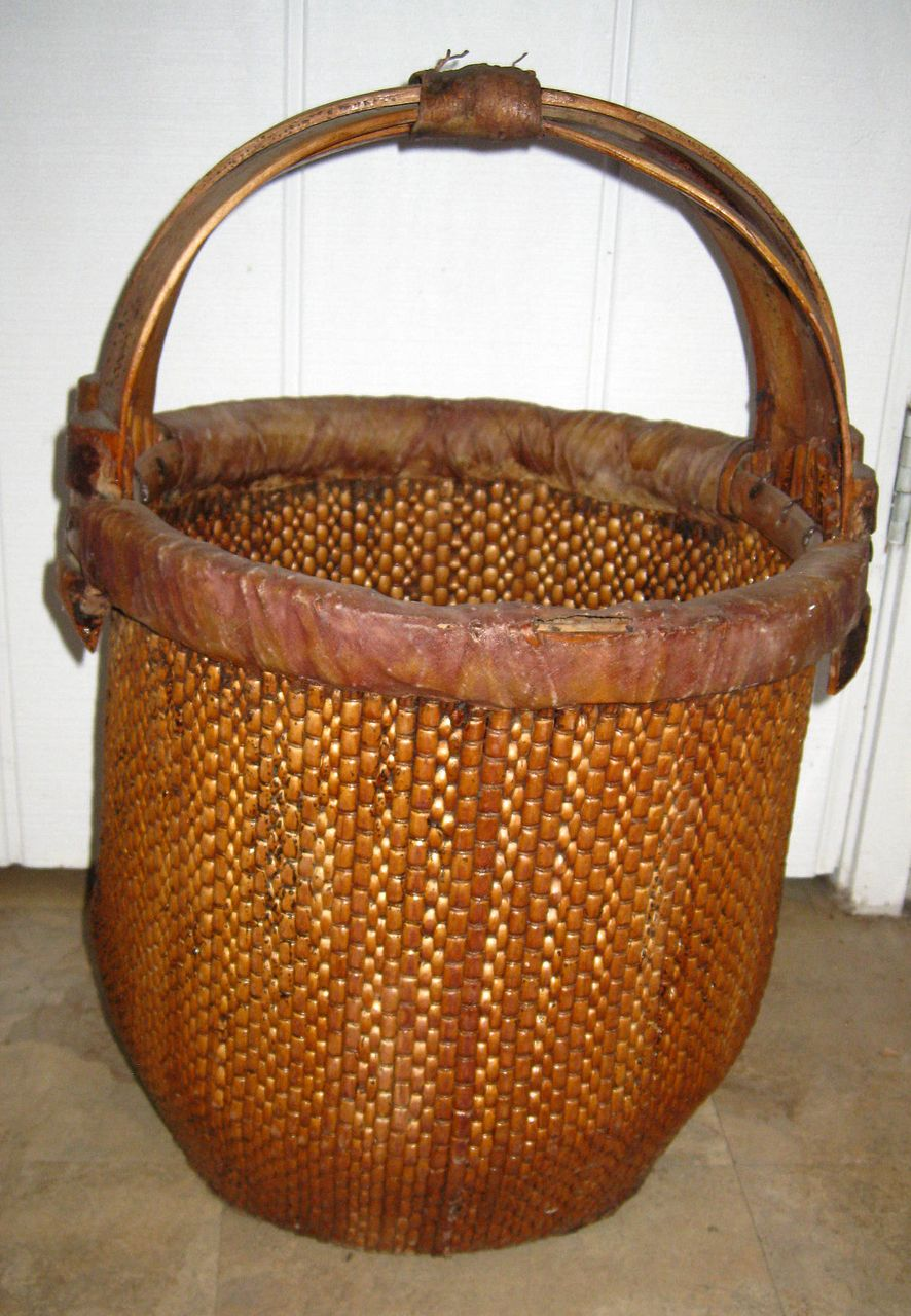 Chinese Large Rice Basket From Dynastycollections On Ruby Lane