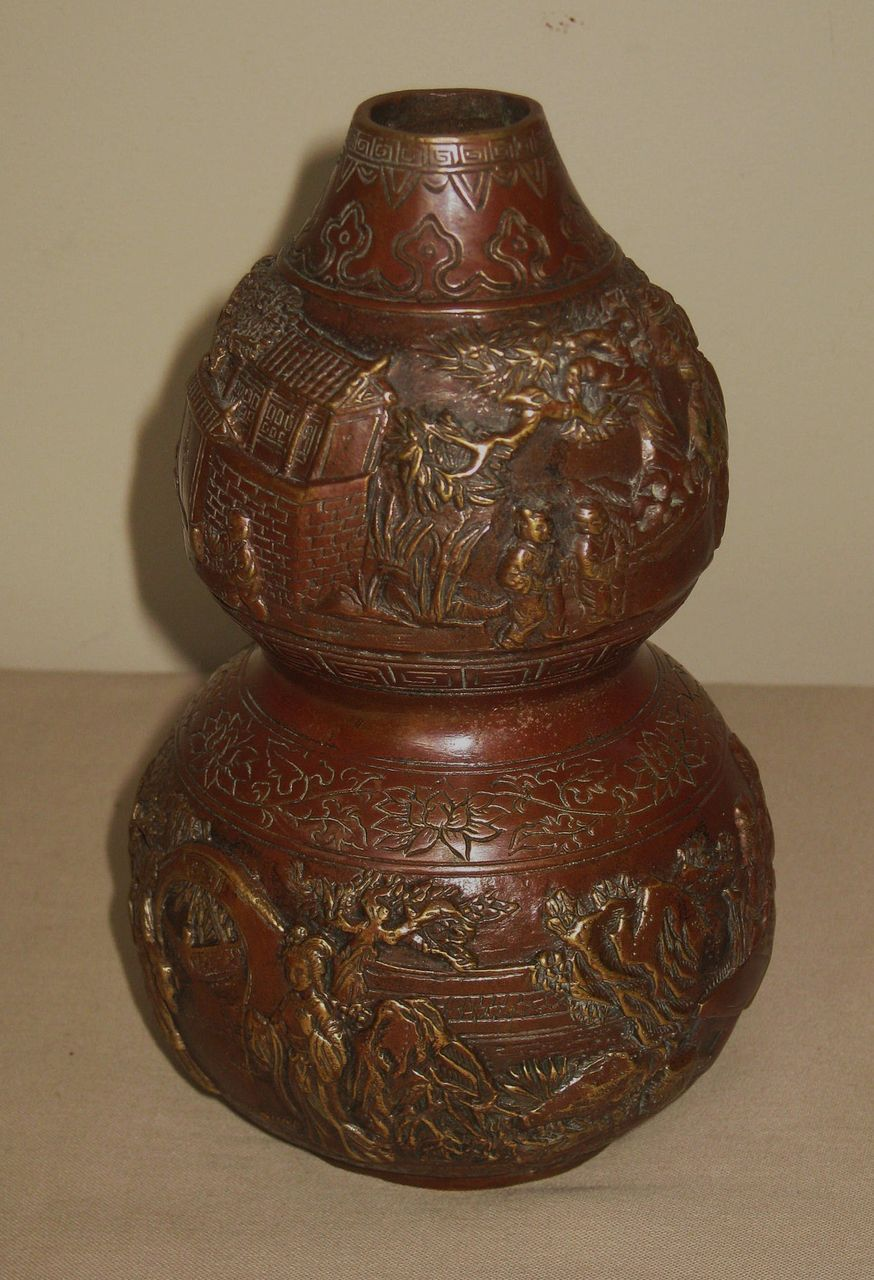 Chinese Bronze Double Gourd Vase From Dynastycollections