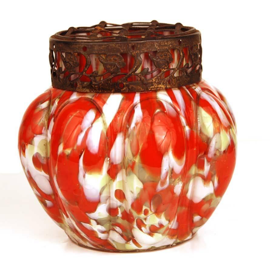 Embossing Copper Antique Flower Vase