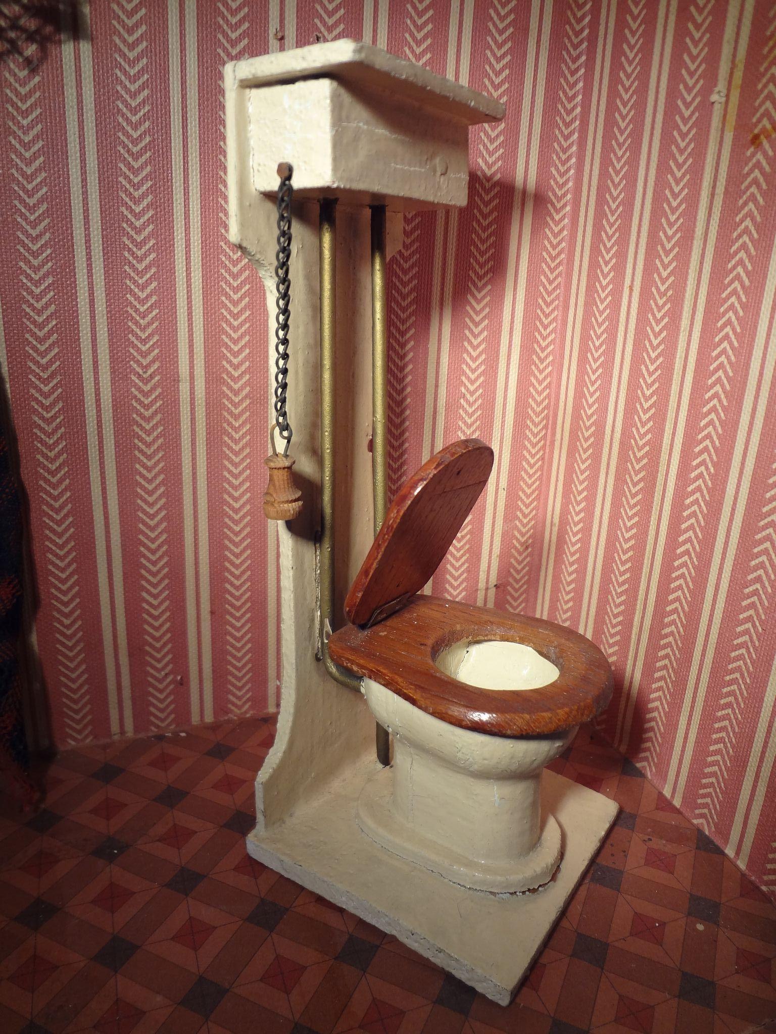 Doll House Bathroom German Bathtub Toilet Sink From