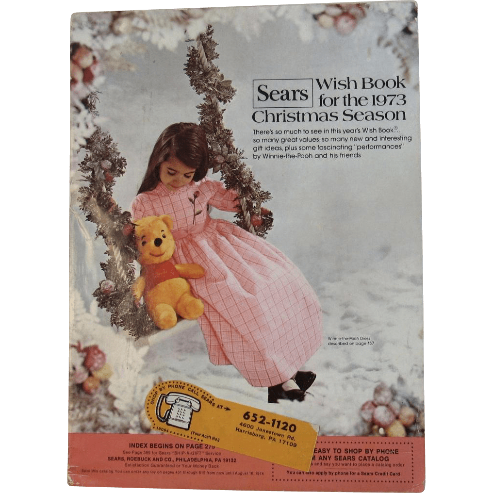 1973 Sears Christmas Wish Book Catalog Winnie The Pooh From Ssmooreantiques On Ruby Lane