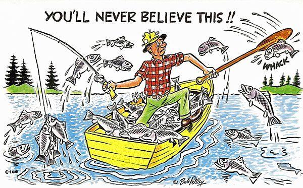 Bob Petley Fishing Humorous Postcard Antique Ables Ruby Lane
