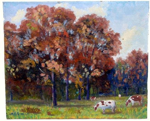 Early 20th Century Illinois Impressionist Painting On