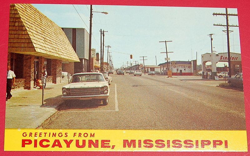 Greeting From Picayune Mississippi Post Card From Rubylane