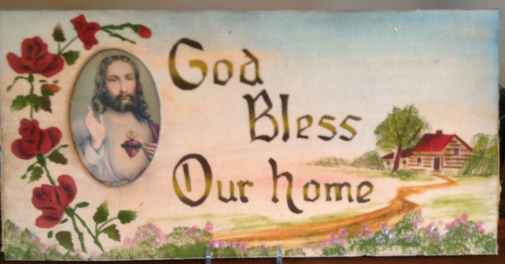 Vintage God Bless Our Home Motto From Bestkeptsecrets On