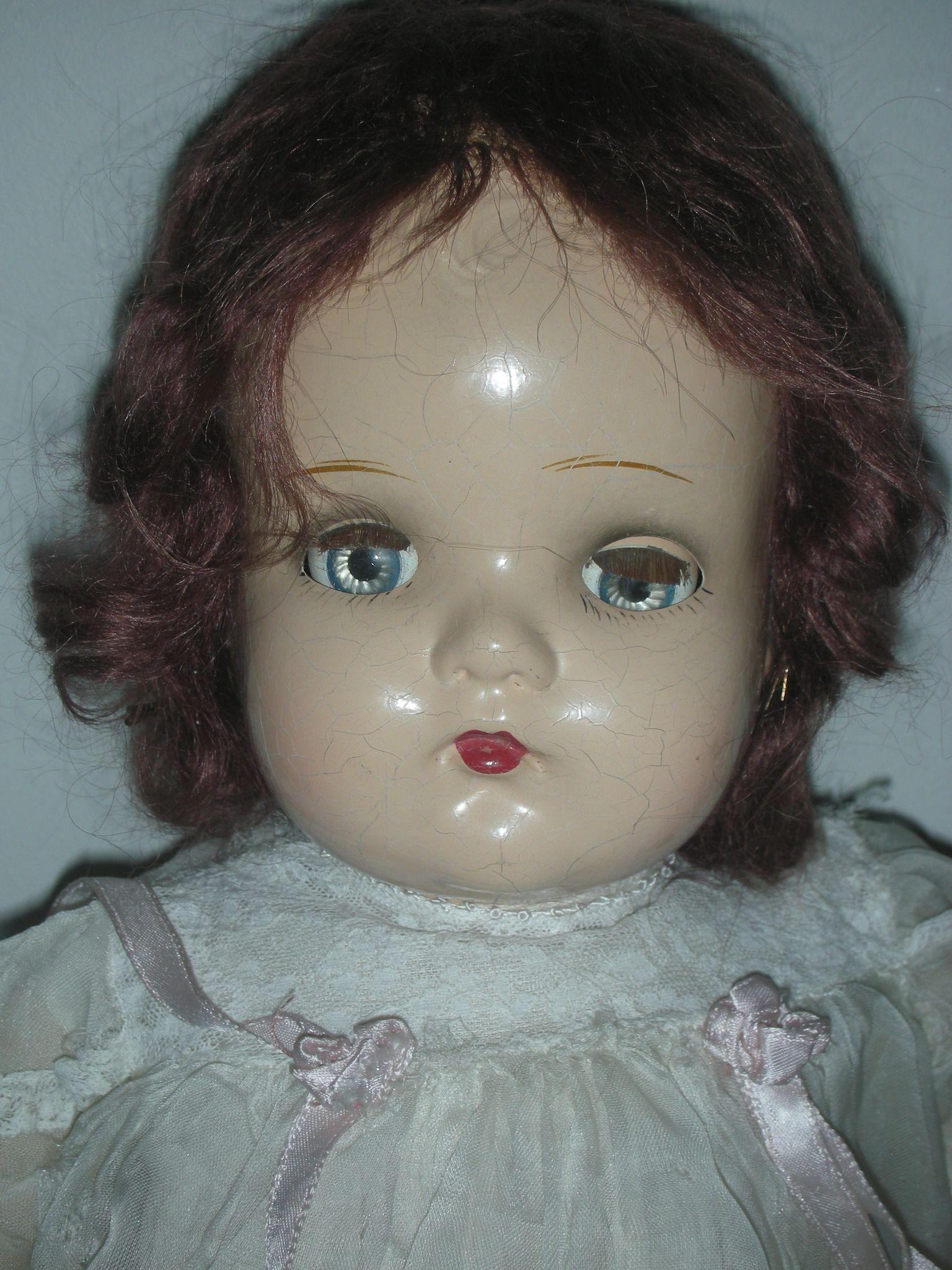 Vintage Madame Alexander 20 Inch Little Genius Composition Baby Doll From