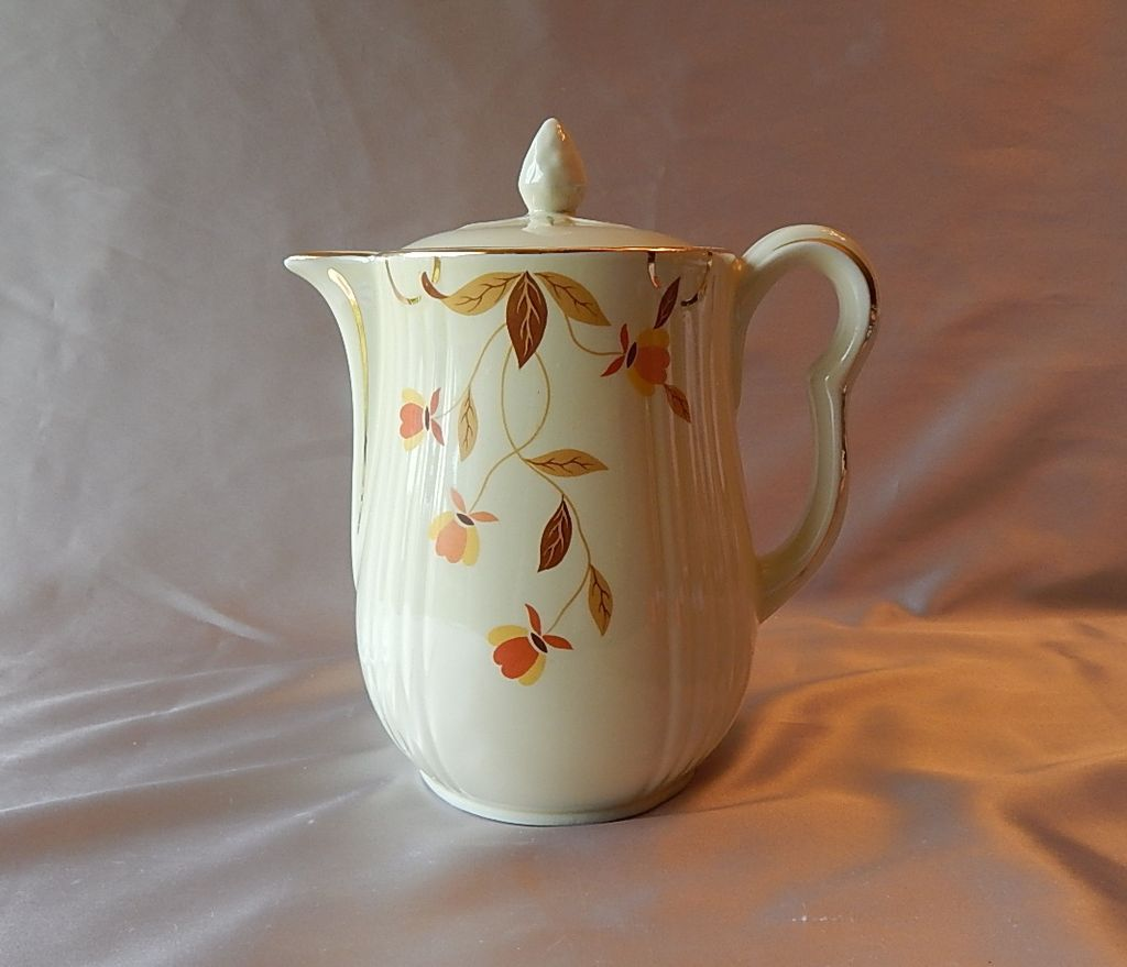 Hall China Autumn Leaf Coffee Pot Colemans Collectibles