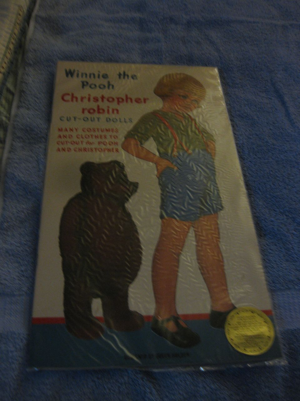 Winnie The Pooh Christopher Robin Cut Out Dolls Book Many Costumes From Dustytreasure90 On Ruby Lane