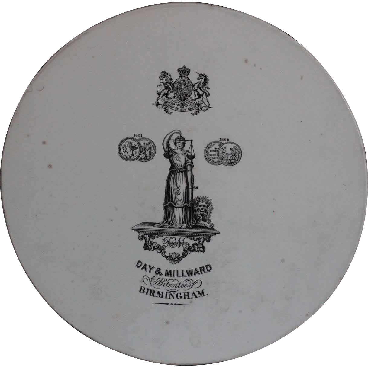 19th Century Victorian English Scales Plate LARGE