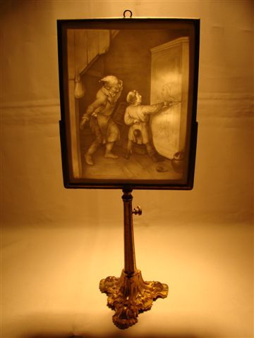 Antique French Lithophane Candle Screen 1800 S Finer