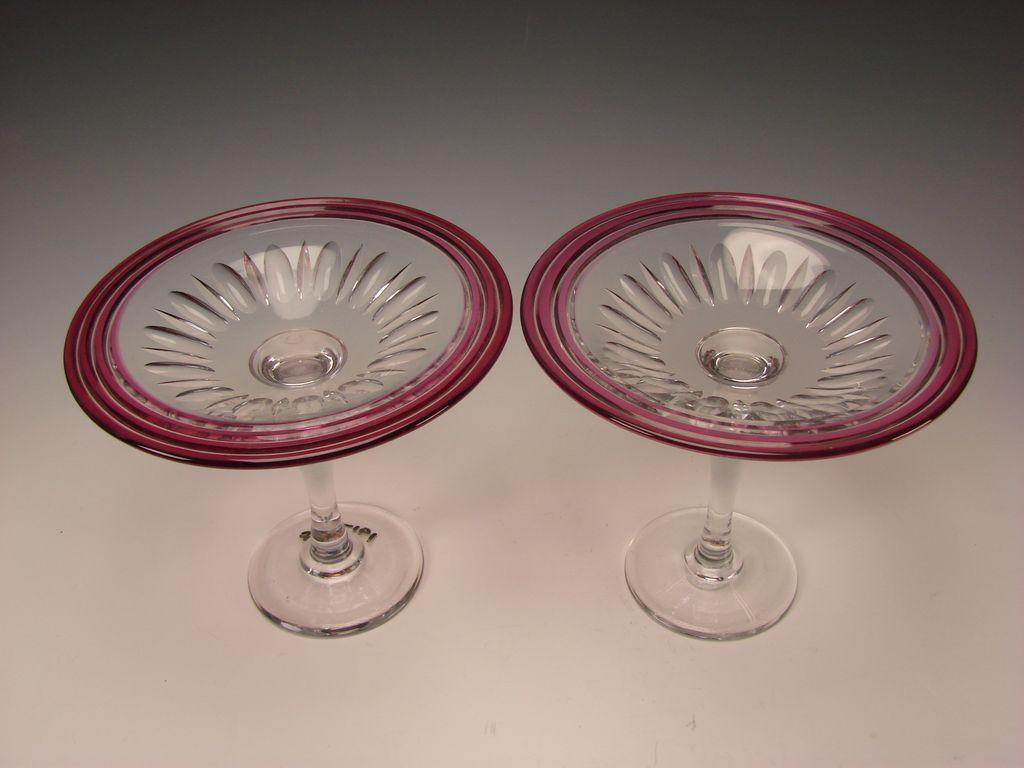 Antique Pairpoint Elegant Cranberry Cased Cut Glass