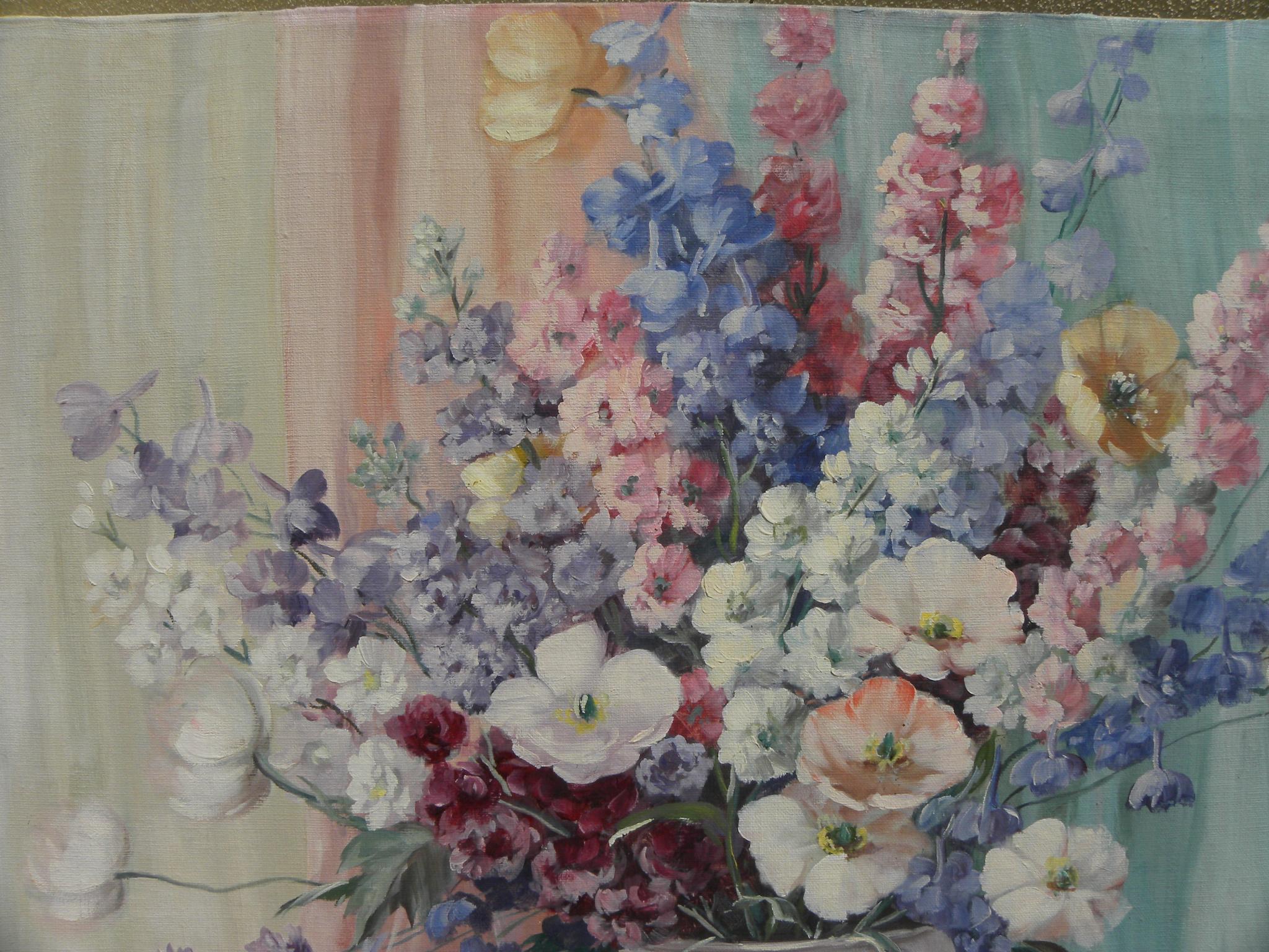 Circa 1940s American Impressionist Still Life Painting