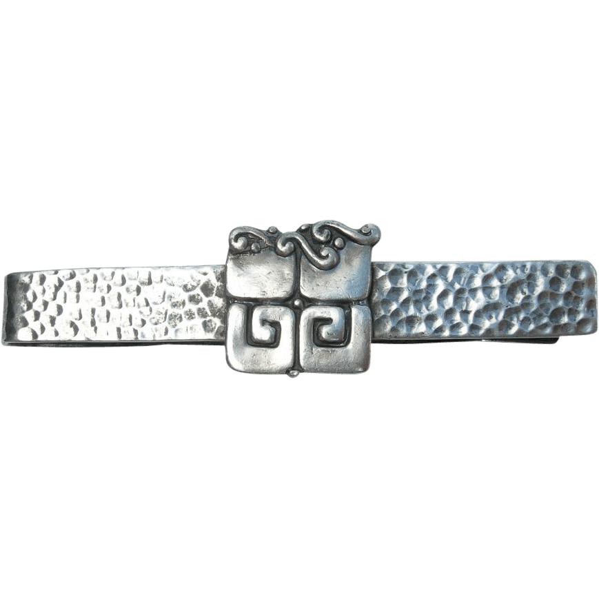 Margot De Taxco Sterling Silver Tie Bar Or Money Clip