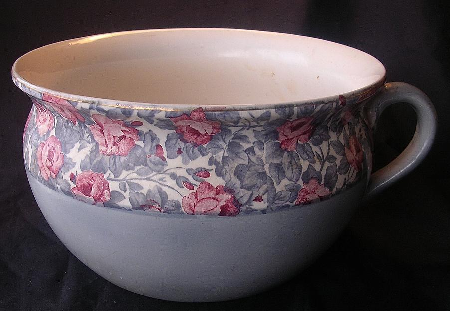 Old English Floral Potty Or Chamber Pot Antique Goodies