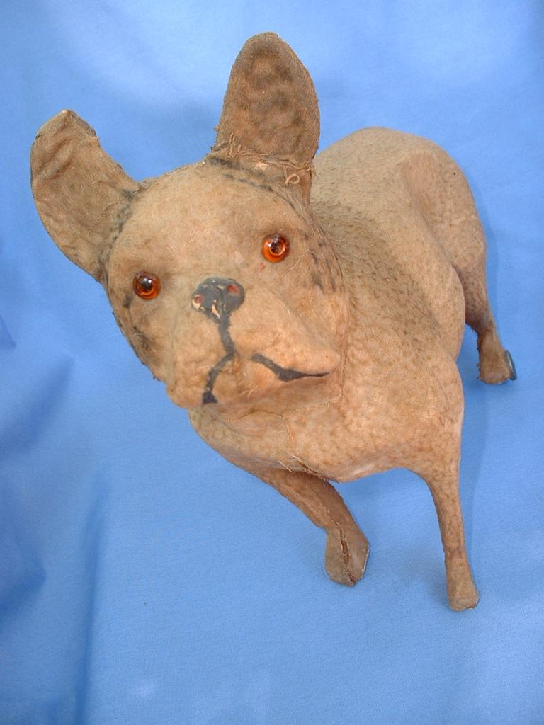 Victorian Dog Pull Toy 10 FRENCH BULLDOG German From