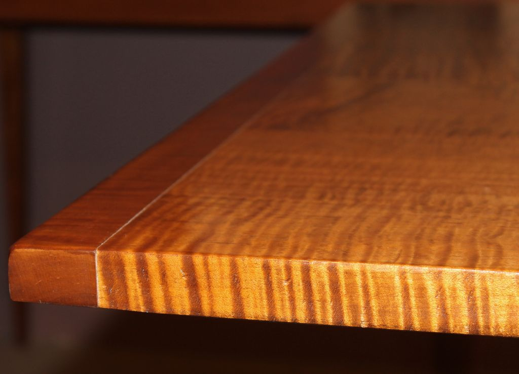 Jason Samuel Bench Made Tiger Maple Dining Table In The William And From Nhantiquecoop On Ruby Lane