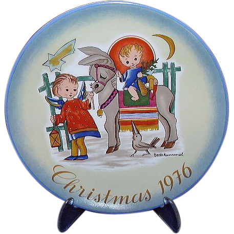 Hummel Sacred Journey 1976 Christmas Plate From