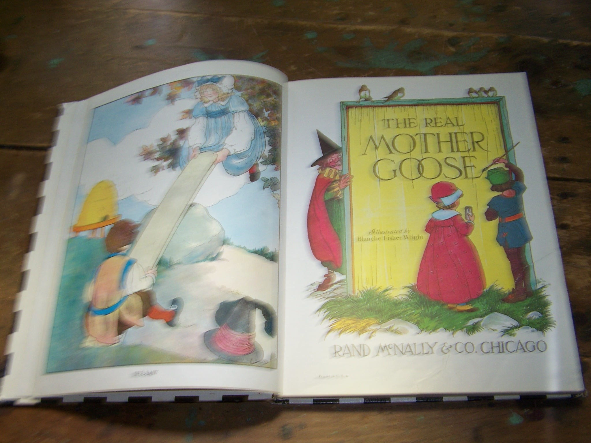 Childrens Vintage Illustrated Collectible Book The Real