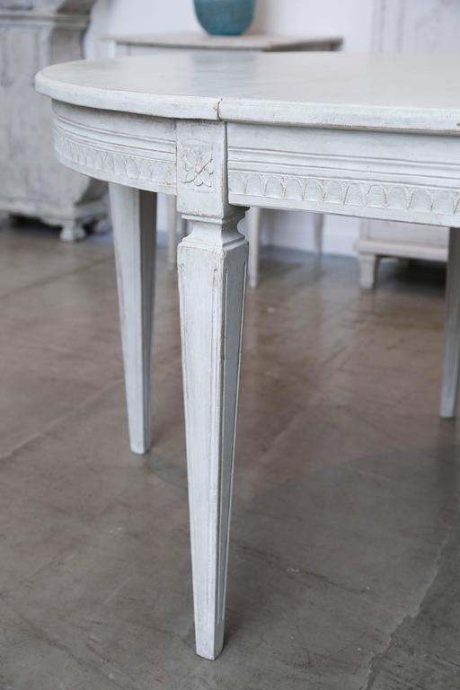 Antique Swedish Painted Dining Table Late 19th Century