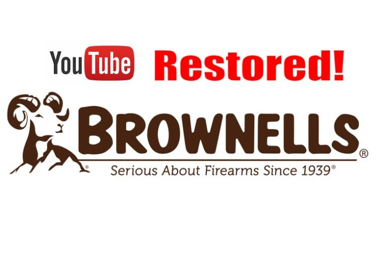 Following Negative Publicity, YouTube Restores Brownells' Channel