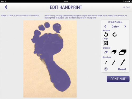 Photo 31 01 2014 16 29 50 730x547 Handpressions: Capture, store and print your kids hand and footprints directly from your iPad