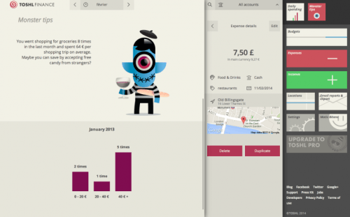 toshl desktop 730x454 Toshl's incoming update brings more monsters and a beautiful take on personal finance tracking