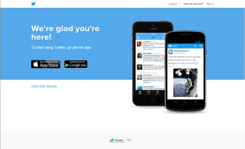 twitter mobilesignup 730x445 Twitter experiments with mobile only signups as it faces a user growth problem