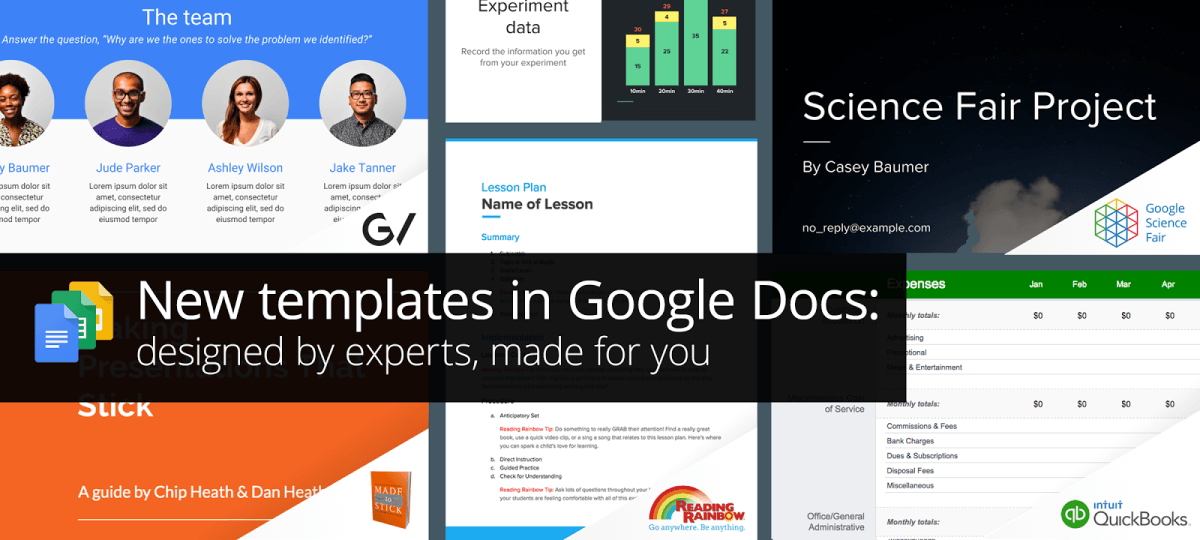 Google Introduces Docs Templates 39designed By Experts39