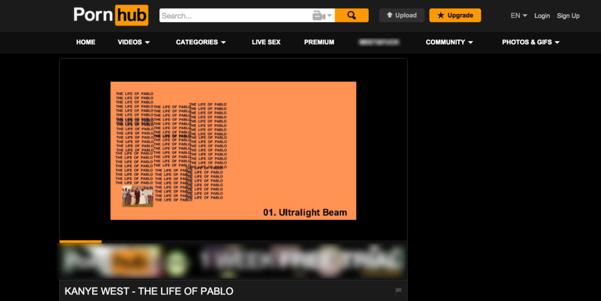 Dont Ask How We Found Out But Kanye Wests The Life Of Pablo Is Now Streaming On Pornhub