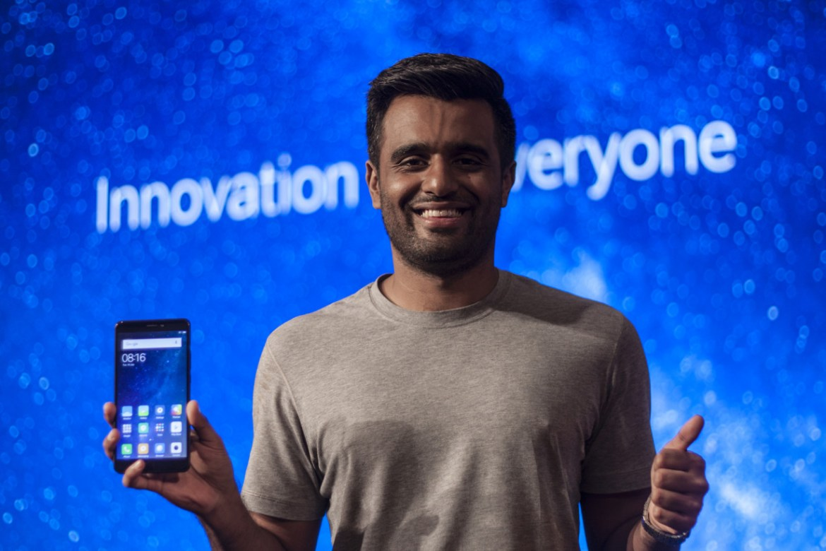 Jai Mani, Xiaomi India's product lead, at the launch of the Mi Max 2 in New Delhi this year