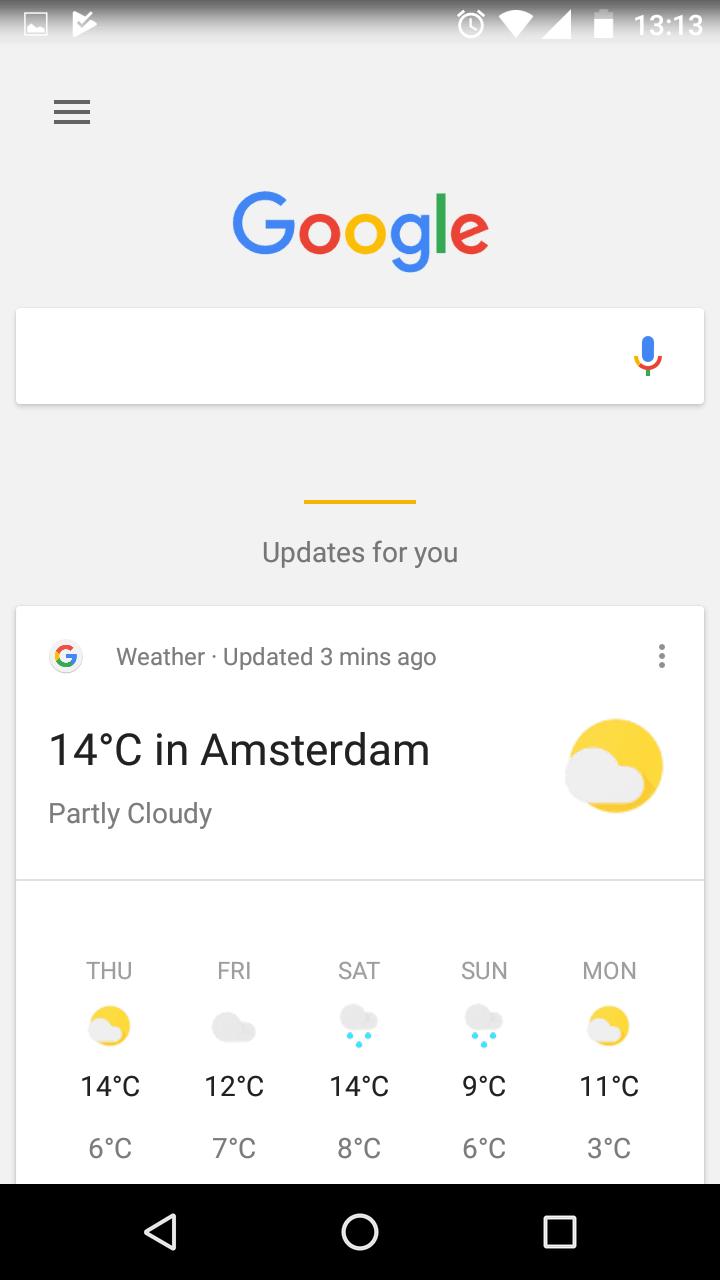 Google está probando una nueva interfaz elegante para Google Now