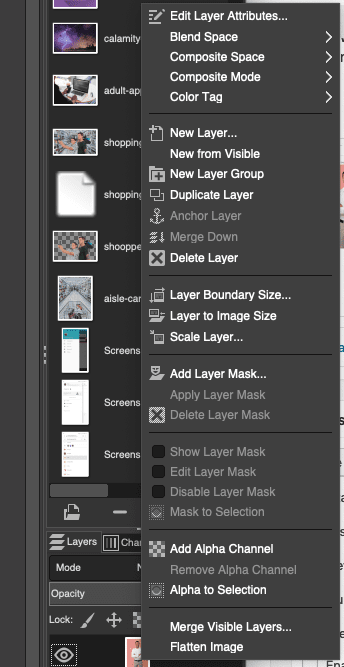 alpha channel, add, layers, mask