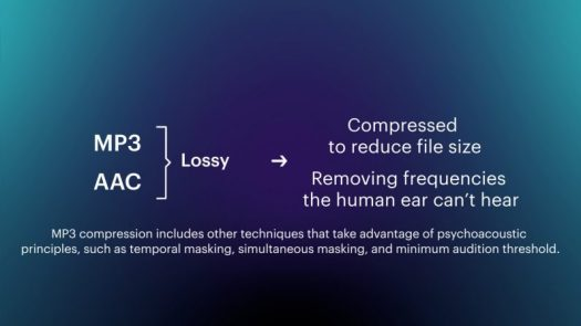 what is a lossy file mp3 aac