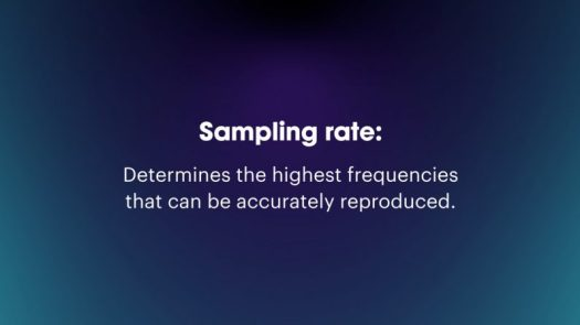 what is sampling rate frequency frequencies