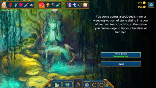 A screenshot from the game Roguebook