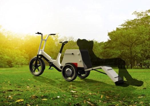 The BMW Dynamic Cargo ebike.