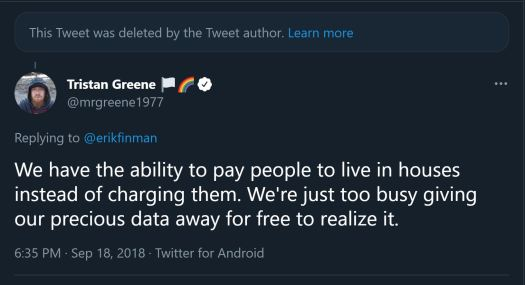 a screenshot of a deleted tweet