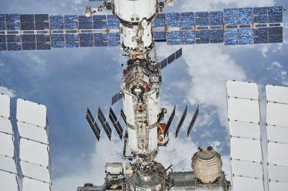 L'ISS photographiée depuis un vaisseau Soyouz