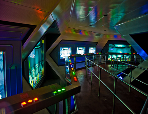 They built the world's first indoor steel roller coaster. Space Mountain Magic Kingdom