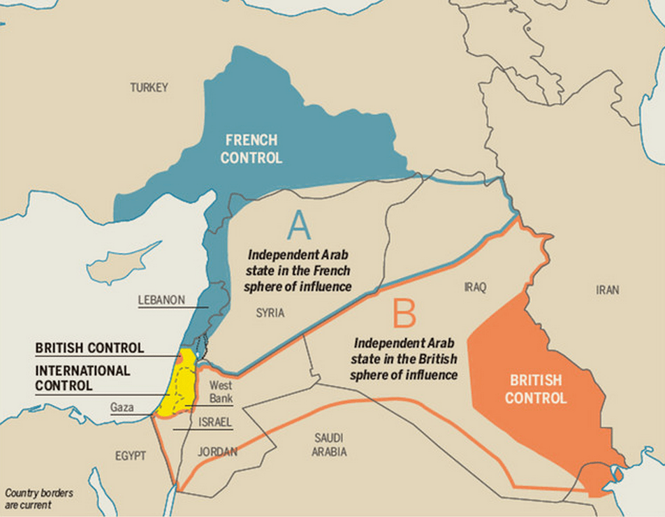 The Sykes-Picot treaty that carved up the Middle East