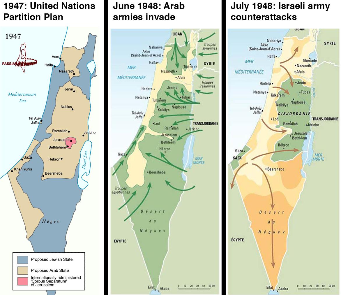 Israel's 1947 founding and the 1948 Israeli-Arab War