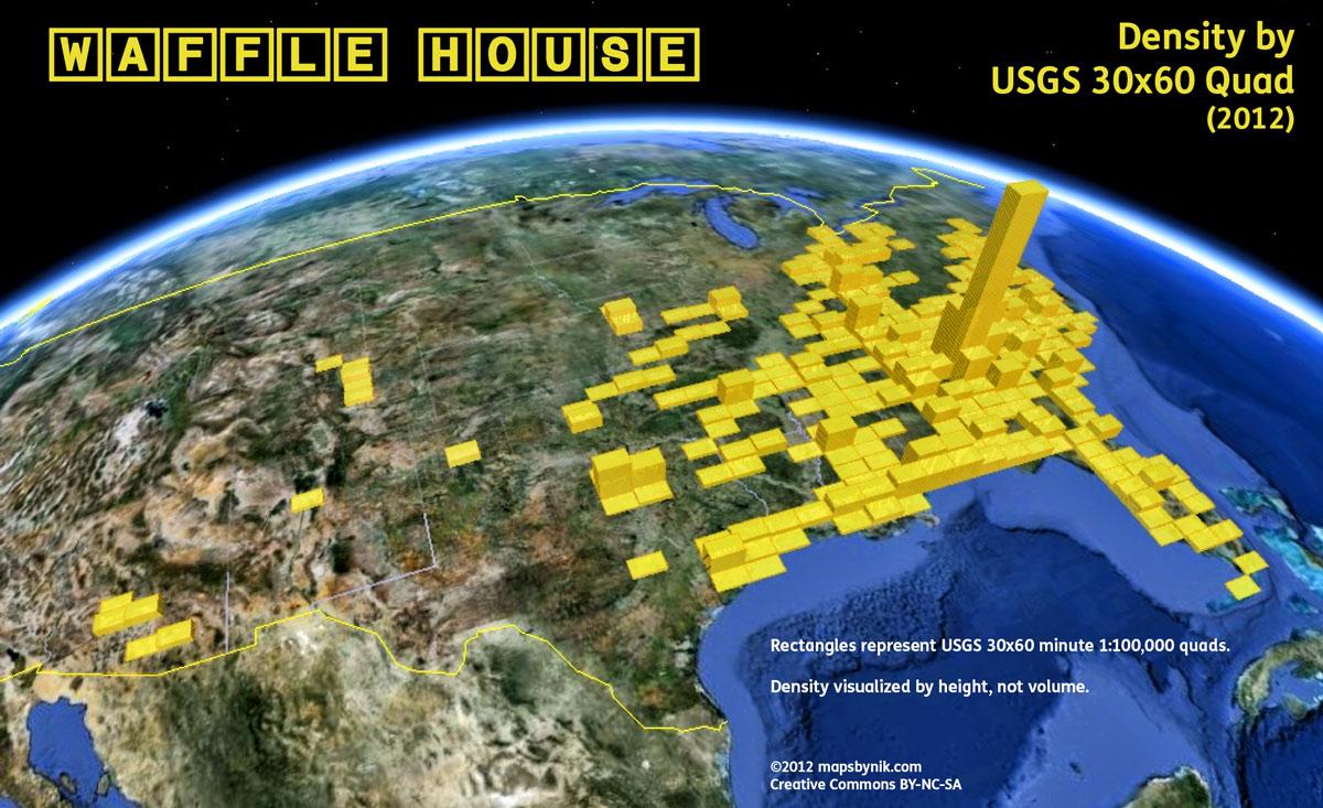 Waffle House Density Index