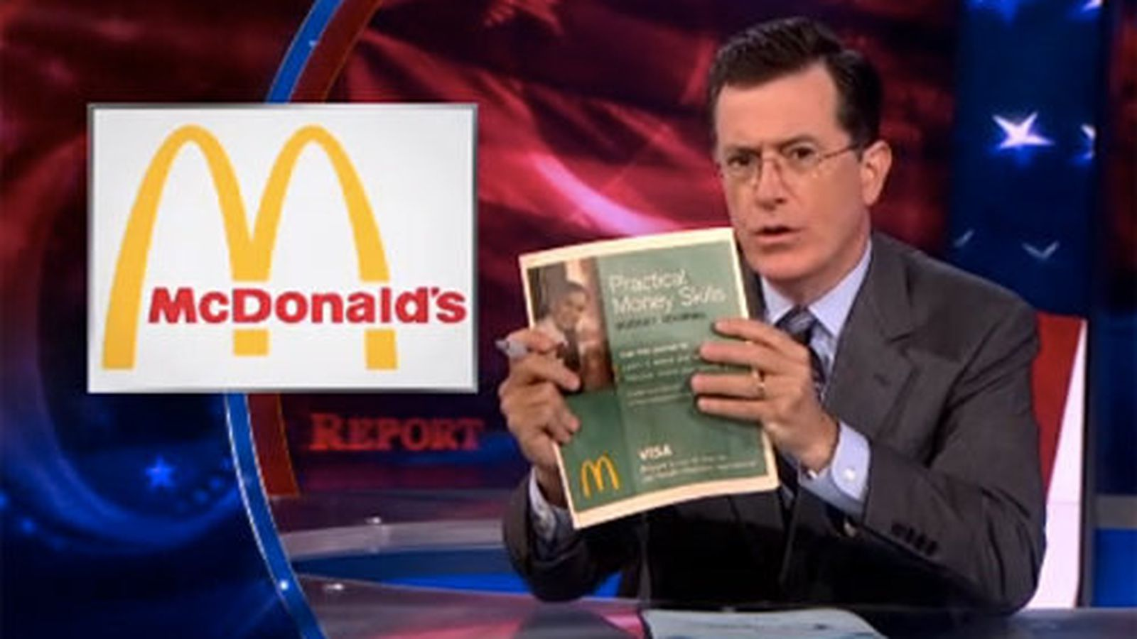 Watch Colbert Shame The Mcdonald S Budgeting Website